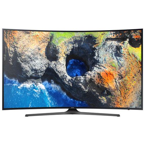 Téléviseur intelligent Tizen incurvé HDR DEL UHD 4K de 55 po de Samsung (UN55MU6500FXZC) - Titane foncé
