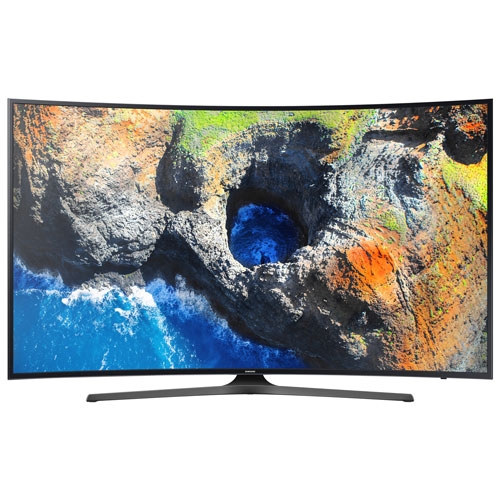 "Samsung 65"" 4K UHD HDR Curved LED Tizen Smart TV (UN65MU6500FXZC) - Dark Titan"