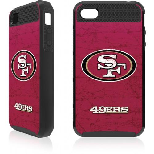 Skin-It San Francisco 49ers Distressed Logo Cargo Case for iPhone 4/4s