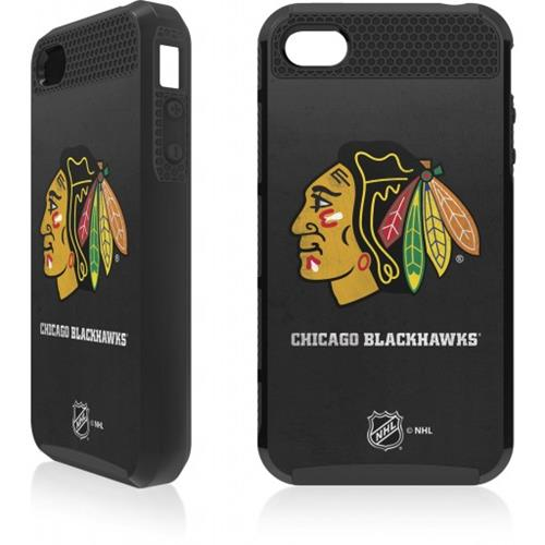 Skin-It Chicago Blackhawks Distressed Logo Cargo Case for iPhone 4/4s
