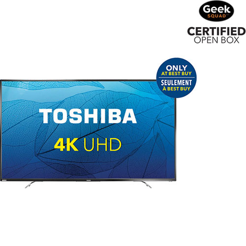 "Toshiba 65"" 4K UHD LED Chromecast Built-in TV (65L621U) - Black - Only at Best Buy - Open Box"