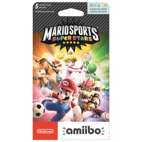 amiibo Mario Sports Superstars Cards - 5 Pack