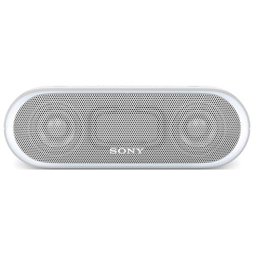 Haut-parleur Bluetooth sans fil CCP résistant à l'eau EXTRA BASS de Sony (SRS-XB20) - Blanc
