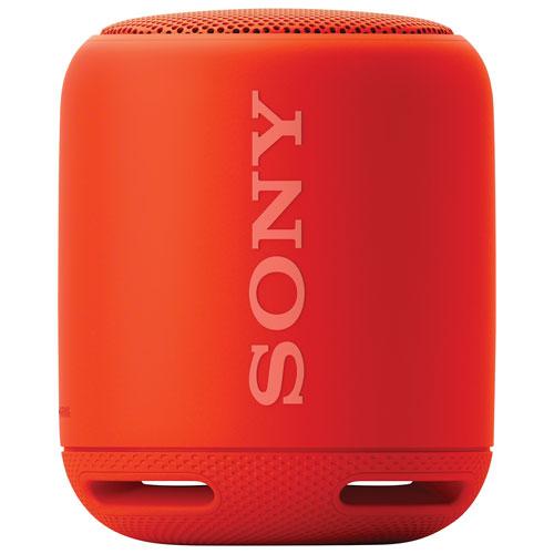 Haut-parleur Bluetooth sans fil résistant à l'eau EXTRA BASS de Sony (SRS-XB10) - Rouge