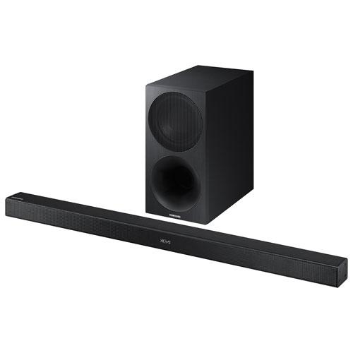 Barre de son de 320 W à 2.1 canaux avec haut-parleur d'extrêmes graves sans fil HW-M450 de Samsung