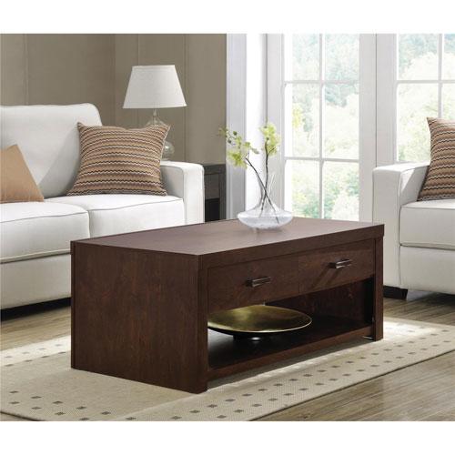 Table basse transitionnelle rectangulaire westbrook avec - Table basse avec tablette ...