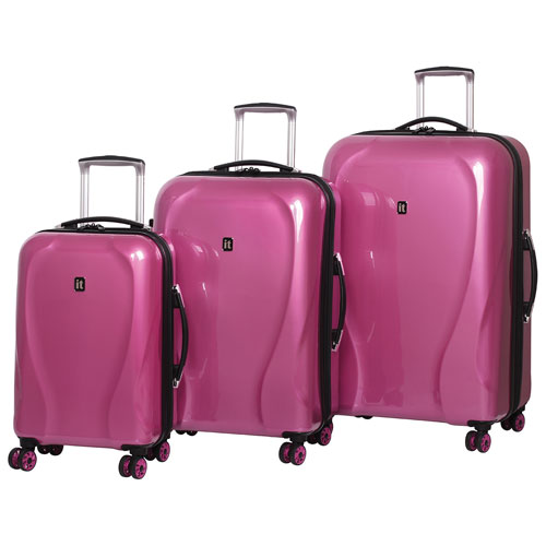IT Luggage Corona 3-Piece Hard Side 8-Wheeled Expandable Luggage ...