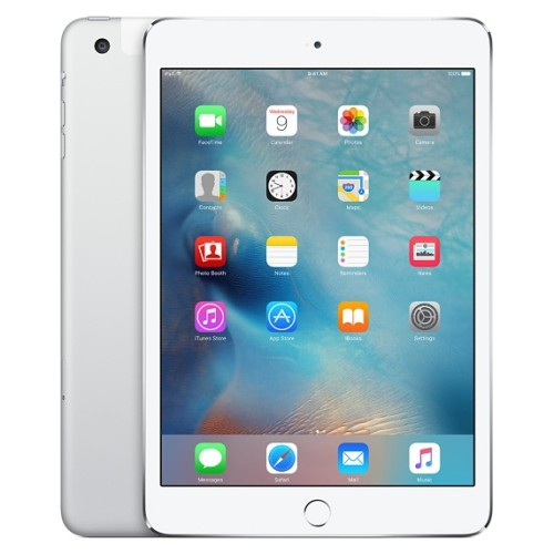 Apple iPad Mini 3 Wifi + Cellular 4G GSM Unlocked Third Gen 16GB White, Refurbished