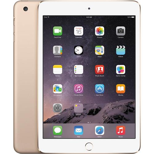 Apple iPad Mini 3 Wifi + Cellular 4G GSM Unlocked Third Gen 16GB Gold REFURBISHED