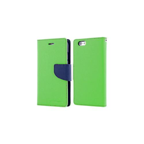 Mercury Goospery Fancy Diary - Galaxy S6 - Lime/Navy