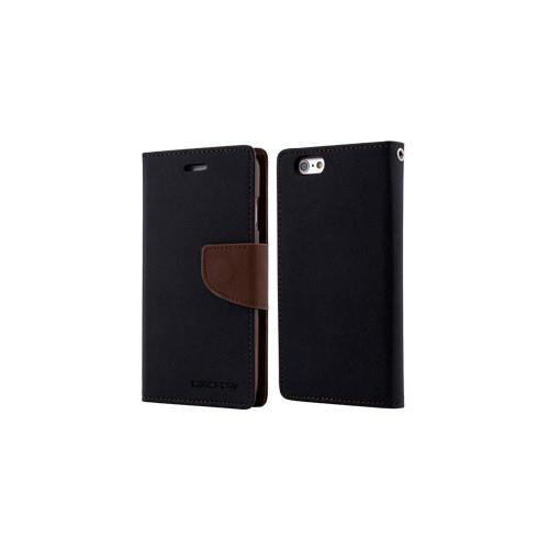 Mercury Goospery Fancy Diary - Galaxy S6 - Black/Brown