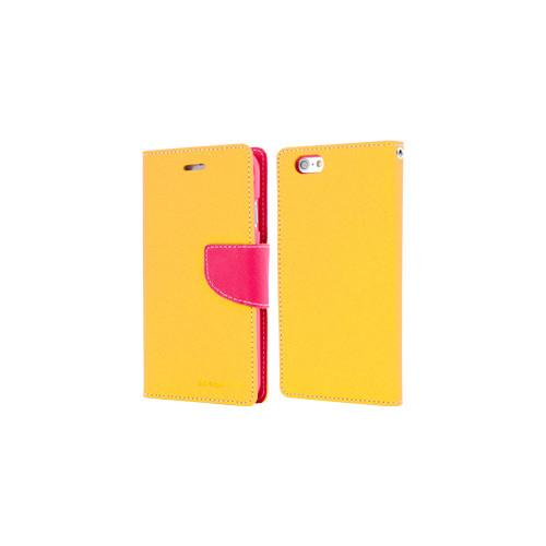 Mercury Goospery Fancy Diary - Galaxy S6 edge+ - Yellow/HotPink