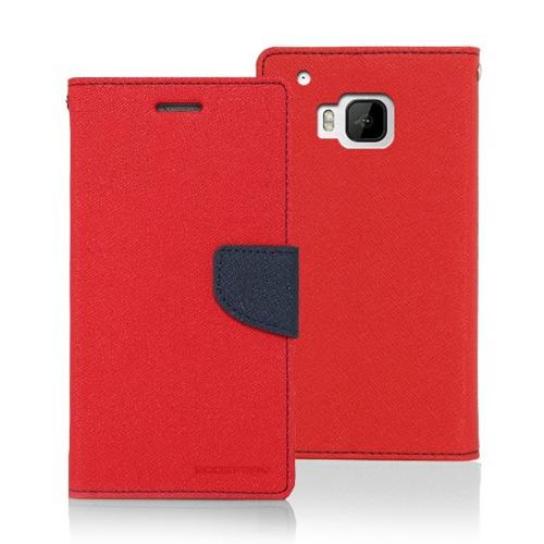 Mercury Goospery Fancy Diary - HTC M9 - Red/Navy