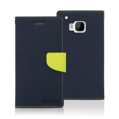 Yyz Mobile cover for HTC M9 - Navy; Lime