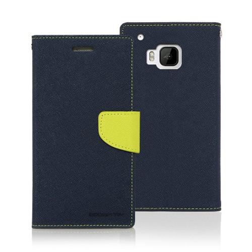 Mercury Goospery Fancy Diary - HTC M9 - Navy/Lime