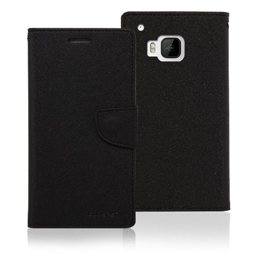 Mercury Goospery Fancy Diary - HTC M9 - Black/Black