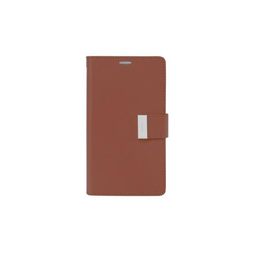 Mercury Goospery Rich Diary - Galaxy S6 edge+ - Brown/Black