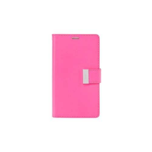 Yyz Mobile Folio Case for Samsung Galaxy S6 Edge Plus - Hot Pink