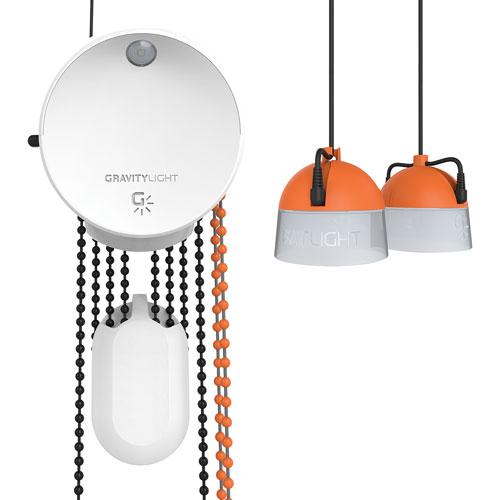 self powered portable hanging lamp white
