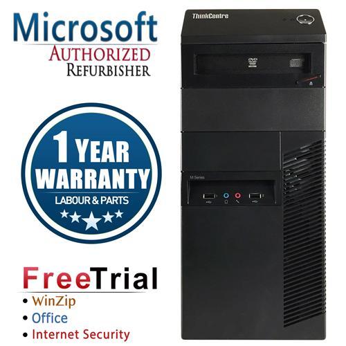 Lenovo M82 Tower i5 3470 3.2 Ghz,16G DDR3,Storage:2 TB HDD+240 GB SSD,Win 10 Professional,1 Year Warranty-Refurbished