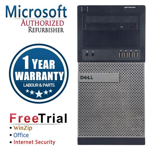 Dell 990 Tower Intel Core i5 24003.1 Ghz,8G DDR3,Storage:2 TB +120 GB SSD,Windows 10 Professional,1 Year Warranty-Refurbished