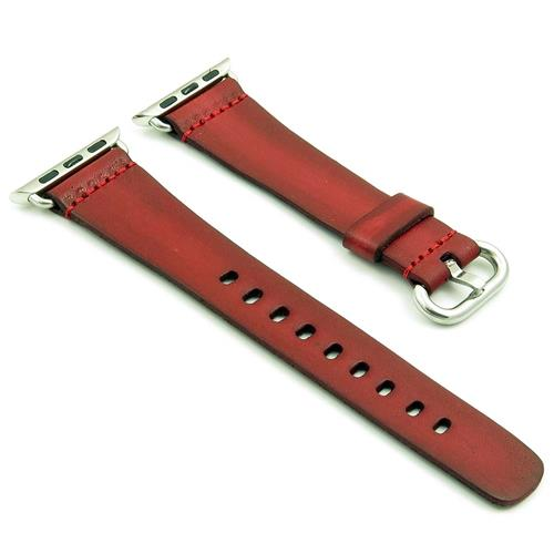 f2a81009194 StrapsCo Red Vintage Style Leather Replacement Watch Strap for Apple iWatch  38mm - Online Only
