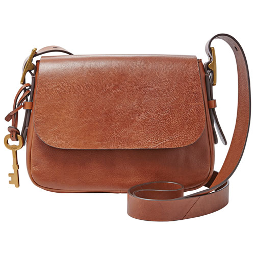 Fossil Harper Leather Crossbody Bag - Small - Brown   Crossbody Bags - Best  Buy Canada 120f6fab498d8