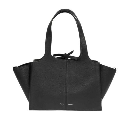 Celine Tri-Fold Shoulder Bag | Black Grained Leather | Medium