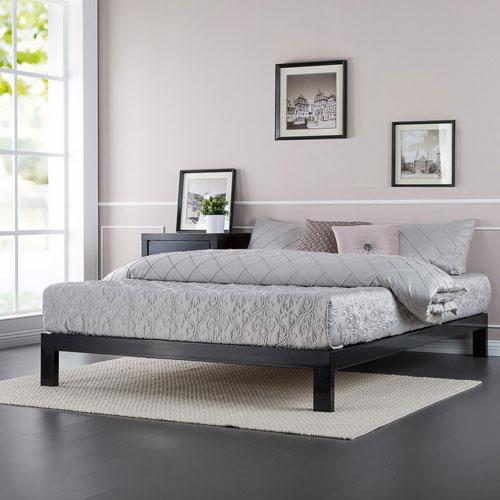 zinus platform bed king black online only