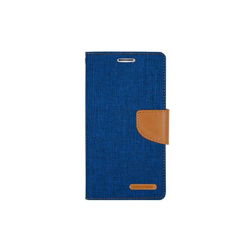 Mercury Goospery Canvas Diary - Galaxy S6 edge - Blue/Camel