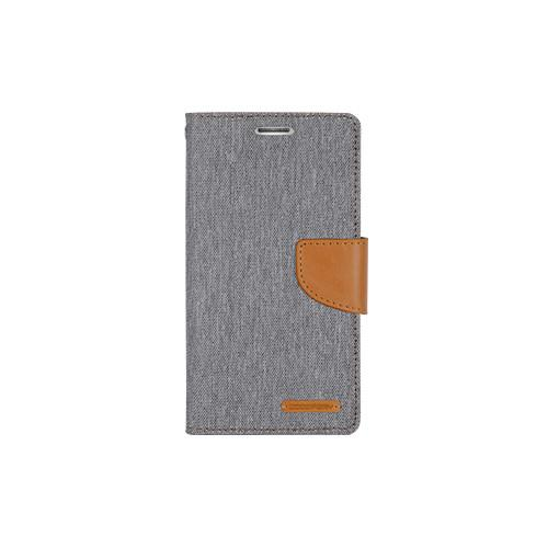 Mercury Goospery Canvas Diary - Galaxy S6 edge - Gray/Camel