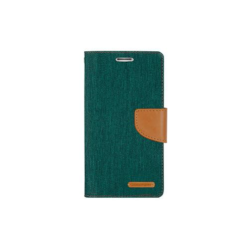 Mercury Goospery Canvas Diary - Galaxy S6 edge - Green/Camel