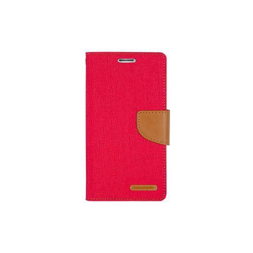 Mercury Goospery Canvas Diary - Galaxy S6 edge - Red/Camel