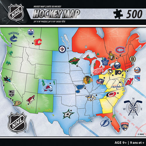 NHL Hockey Map Puzzle Pieces Puzzles Best Buy Canada - Canada map puzzles