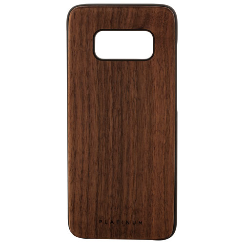 Platinum Samsung Galaxy S8 Walnut Wood Fitted Hard Shell Case - Brown