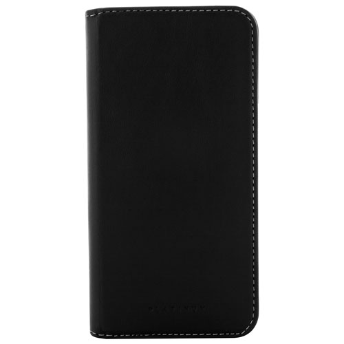 Platinum Samsung Galaxy S8 Plus Leather Fitted Hard Shell Case - Black