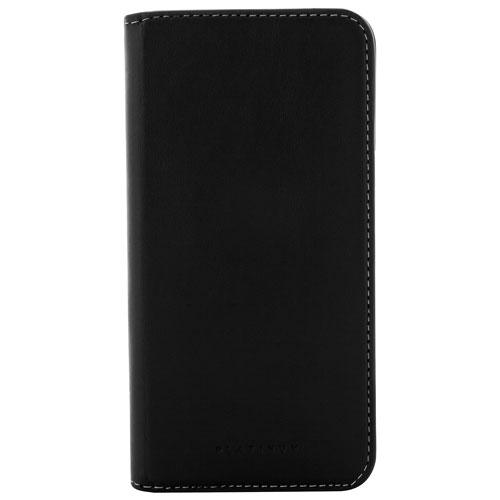 Étui rigide ajusté en cuir de Planitum pour Galaxy S8 Plus de Samsung - Noir
