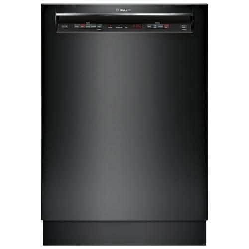 "Bosch 300 Series 24"" 44dB Built-In Dishwasher w/ Stainless Steel Tub & Third Rack-Black"