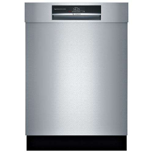 "Bosch 800 Series 24"" 42dB Built-In Dishwasher with Stainless Steel Tub & Third Rack -Stainless Steel"