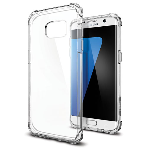 Spigen Crystal Samsung Galaxy S7 edge Fitted Hard Shell Case - Clear