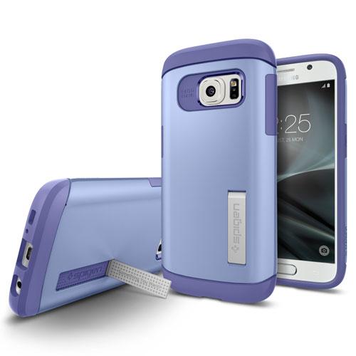 Étui rigide ajusté Slim Armor de Spigen pour Galaxy S7 de Samsung - Violet