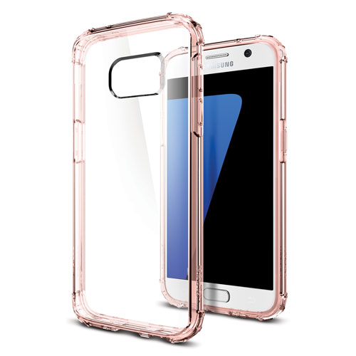 Spigen Crystal Samsung Galaxy S7 Fitted Hard Shell Case - Rose