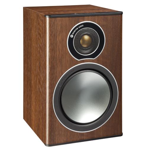 Monitor Audio Bronze 1 Bookshelf Speaker - Walnut (Pair)