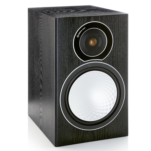 Monitor Audio SILVER 2 Bookshelf Speaker - Black Oak (Pair)