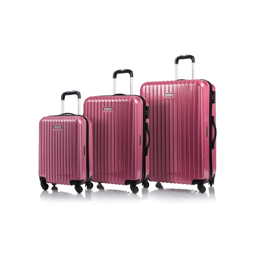 CHAMPS Luggage GALAXY Collection 3-Piece Hard Side 4-Wheeled ...