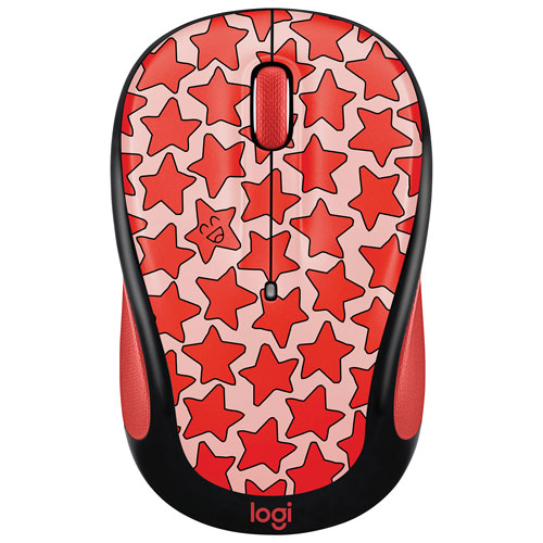 Logitech Doodle M325 1000 DPI Wireless Optical Mouse - Cosmos Coral