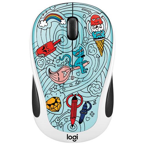 Logitech Doodle M325 1000 DPI Wireless Optical Mouse - Bae-Bee Blue