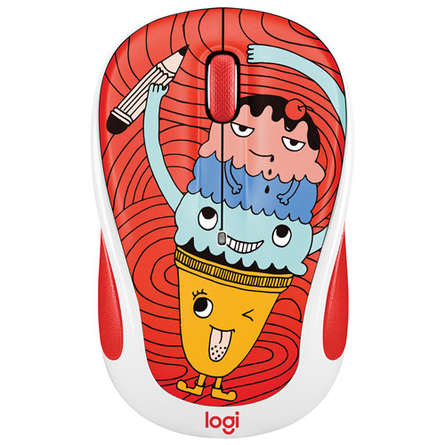 Logitech Doodle M325 1000 DPI Wireless Optical Mouse - Triple Scoop