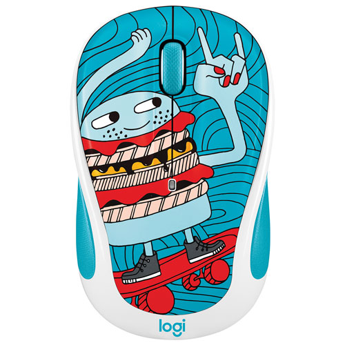 Logitech Doodle M325 1000 DPI Wireless Optical Mouse - SkateBurger