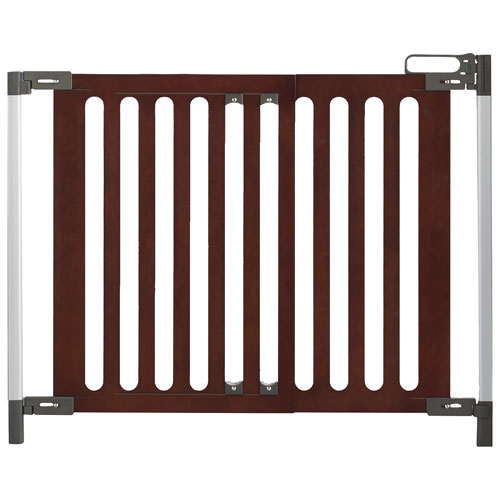 Qdos Spectrum Hardware Mounted Safety Gate Mahogany Baby Gates